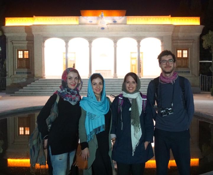 Italians at Zoroastrian Fire Temple