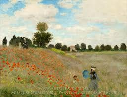 Monet Poppy Flowers